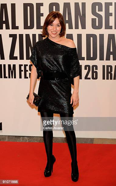 Spanish actress Lola Duenas attends the Sir Ian Mckellen Donosti Lifetime Achievement Award during the 57th San Sebastian International Film Festival...