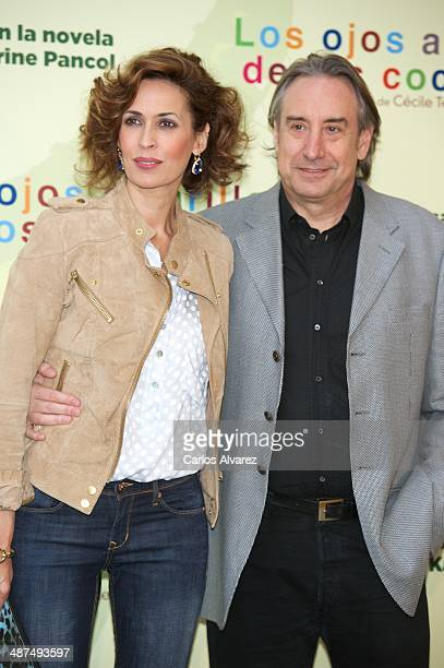 Spanish actress Lola Marceli and husband actor Juanjo Puigcorbe attend the Los Ojos Amarillos de los cocdrilos premiere at the Academia de Cine on...