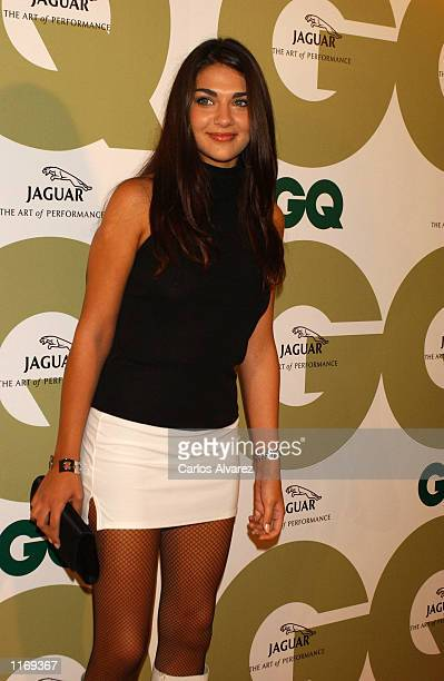 Spanish actress Lorena Bernal attends the seventh annual GQ fashion show party October 8 2001 in Madrid Spain