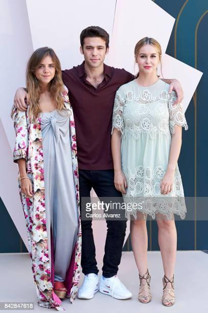 Spanish actress Lucia Diez, actor Ignacio Montes and actress Paula Usero attend 'Velvet Colecction' photocall at the Escoriaza Esquivel Palace during...