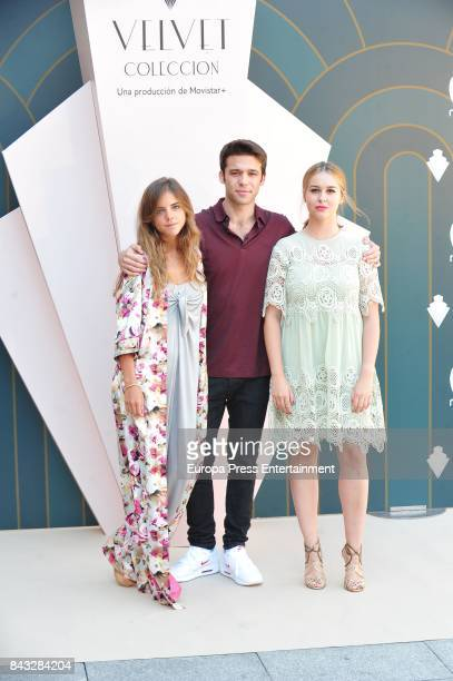 Spanish actress Lucia Diez, actor Ignacio Montes and actress Paula Usero attend 'Velvet Colecction' photocall during the FesTVal 2017 on September 5,...