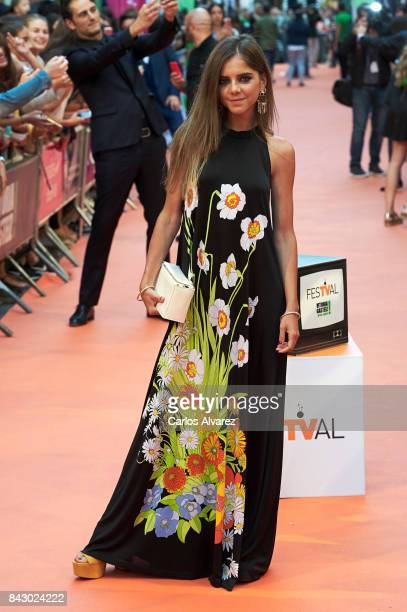 Spanish actress Lucia Diez attends 'Velvet Colecction' premiere at the Principal Teather during the FesTVal 2017 on September 5 2017 in...