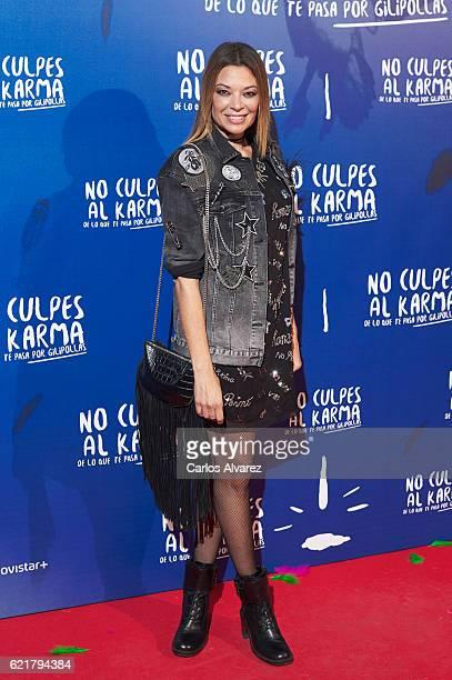 Spanish actress Lucia Hoyos attends 'No Culpes al Karma De lo Que Te Pasa Por Gilipollas' premiere at Callao cinema on November 8 2016 in Madrid Spain