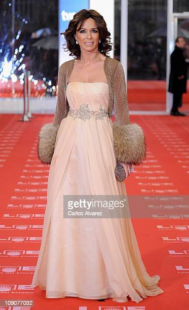 Spanish actress Lydia Bosch arrives to the 2011 edition of the 'Goya Cinema Awards' ceremony at Teatro Real on February 13 2011 in Madrid Spain