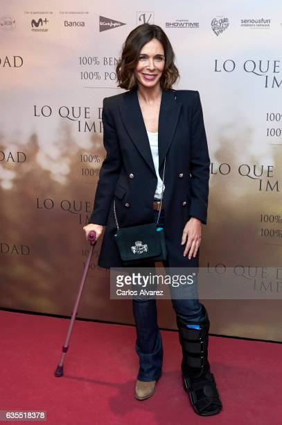 Spanish actress Lydia Bosch attends 'Lo Que De Verdad Importa' premiere at the Capitol cinema on February 15 2017 in Madrid Spain