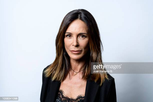 Spanish actress Lydia Bosch poses for a portrait session during 63rd SEMINCI International Film Week of Valladolid on October 22 2018 in Valladolid...