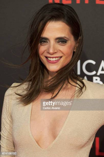 Spanish actress Macarena Gomez attends 'Las Chicas Del Cable' premiere at the Callao cinema on April 27 2017 in Madrid Spain