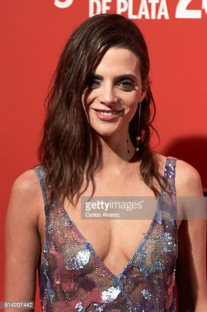 Spanish actress Macarena Gomez attends the Fotogramas Awards 2015 at the Joy Eslava Club on March 7 2016 in Madrid Spain