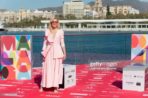 Spanish actress Maggie Civantos attends 'Antes de la Quema' photocall during 22nd Malaga Spanish Cinema Film Festival on March 17 2019 in Malaga Spain
