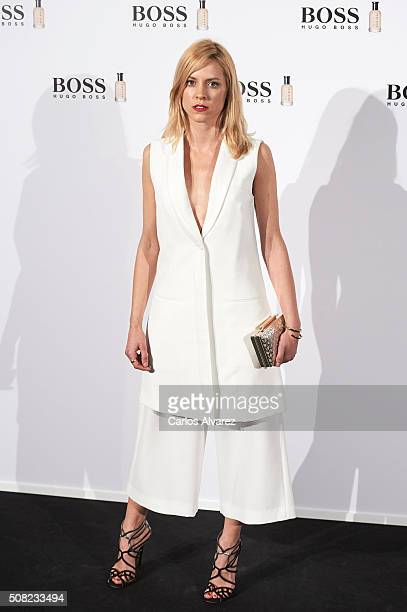 Spanish actress Maggie Civantos attends Hugo Boss Man Of Today presentation at the NH Eurobuilding Hotel on February 3 2016 in Madrid Spain