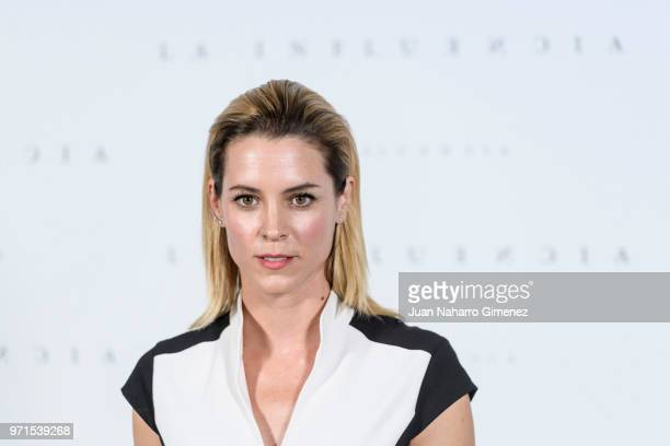 Spanish actress Maggie Civantos attends 'La Influencia' Madrid photocall on June 11 2018 in Madrid Spain
