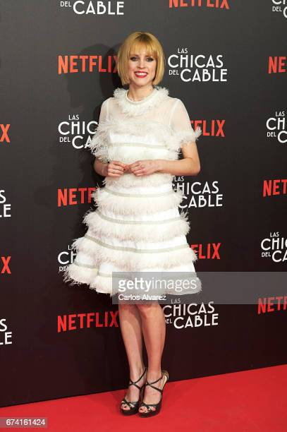 Spanish actress Maggie Civantos attends 'Las Chicas Del Cable' premiere at the Callao cinema on April 27 2017 in Madrid Spain