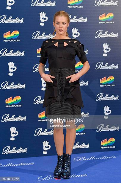 Spanish actress Maggie Civantos attends the 40 Principales Awards 2015 photocall at the Barclaycard Center on December 11 2015 in Madrid Spain