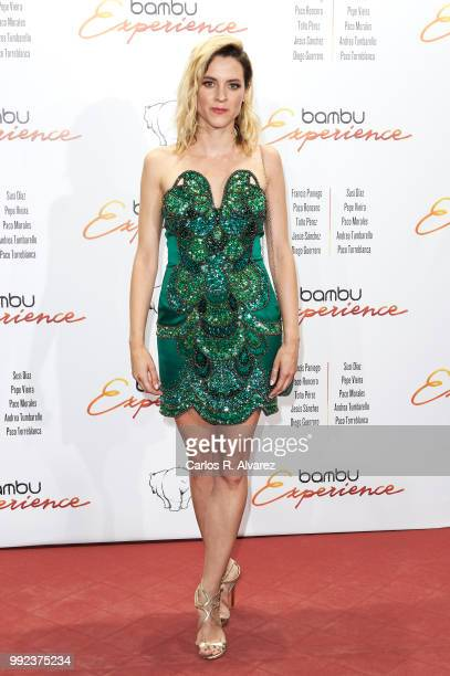 Spanish actress Maggie Civantos attends the Bambu 10th anniversary party at Gran Maestre Theater on July 5 2018 in Madrid Spain