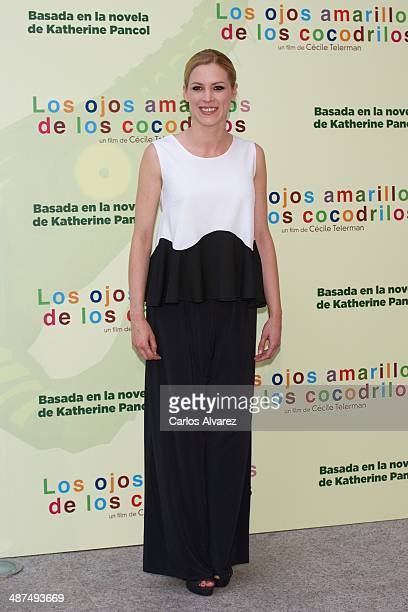 Spanish actress Maggie Civantos attends the Los Ojos Amarillos de los cocdrilos premiere at the Academia de Cine on April 30 2014 in Madrid Spain