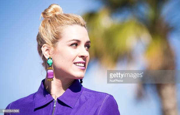 Spanish actress Maggie Civantos attends 'Vis a Vis' photocall during the 21th Malaga Film Festival on April 15 2018 in Malaga Spain