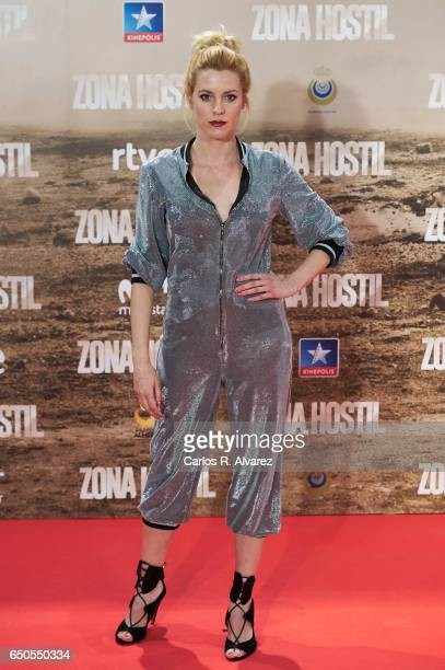 Spanish actress Maggie Civantos attends 'Zona Hostil' premiere at the Kinepolis cinema on March 9 2017 in Madrid Spain