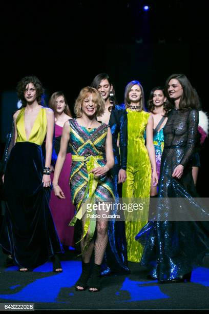 Spanish actress Maggie Civantos walks the runway at the Esther Noriega show during the MercedesBenz Madrid Fashion Week Autumn/Winter 2017 at Ifema...