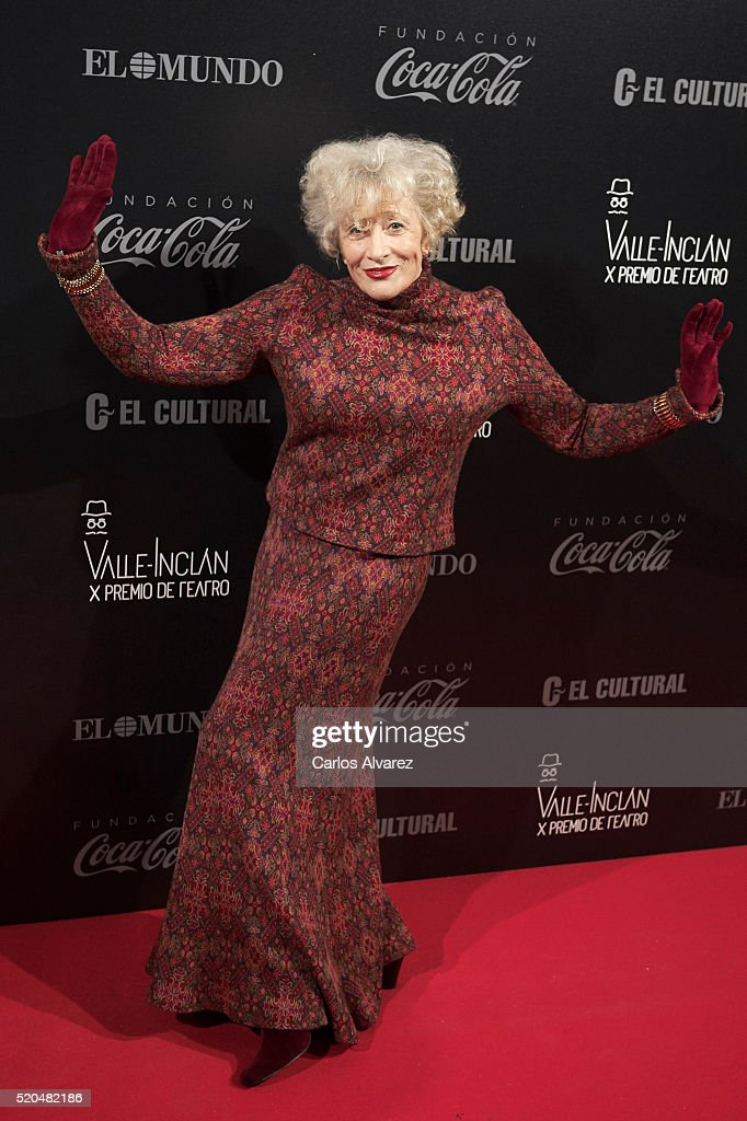 Spanish actress Magui Mira attends the 10th Valle-Inclan Theatre awards at the Royal Theatre on April 11, 2016 in Madrid, Spain.