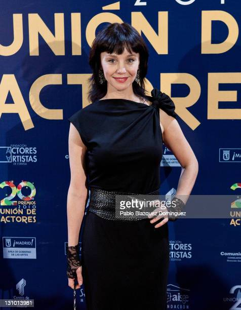 Spanish actress Manuela Paso attends XX Union de Actores Awards at Circo Price Theatre on October 31 2011 in Madrid Spain