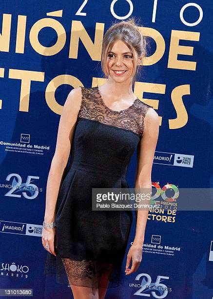 Spanish actress Manuela Velasco attends XX Union de Actores Awards at Circo Price Theatre on October 31 2011 in Madrid Spain