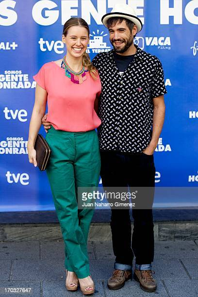 Spanish actress Manuela Velles and Unax Ugalde attend Somos Gente Honrada photocall at Proyecciones Cinema on June 11 2013 in Madrid Spain