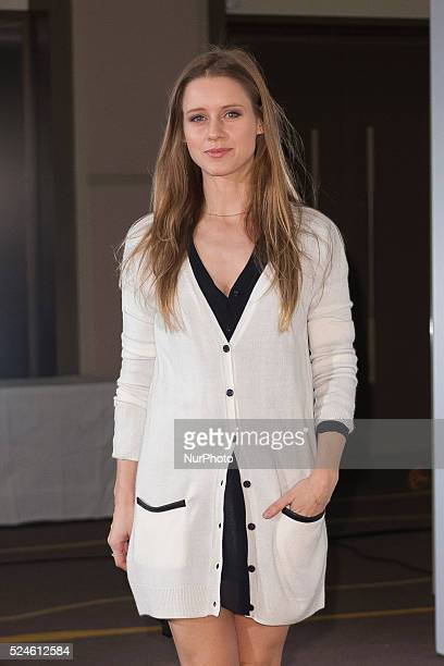 Spanish actress Manuela Velles announces the next 'Jose Maria Forque' awards at the Palace Hotel on December 18 2014 in Madrid Spain