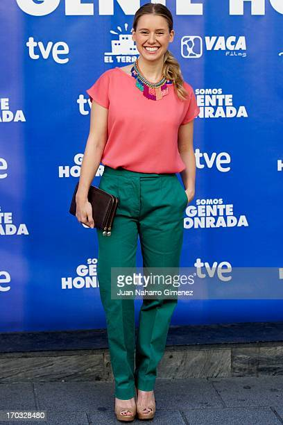 Spanish actress Manuela Velles attends Somos Gente Honrada photocall at Proyecciones Cinema on June 11 2013 in Madrid Spain