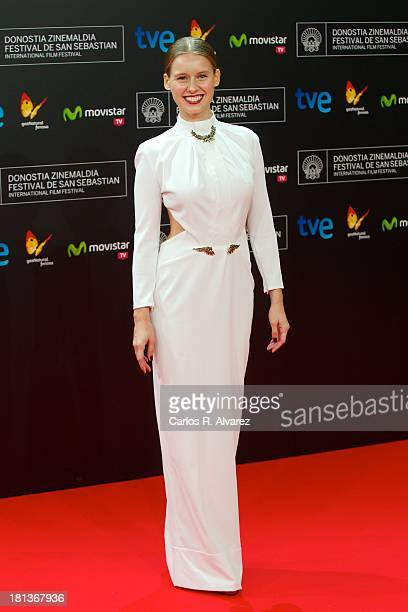 Spanish actress Manuela Velles attends the inauguration Gala of the 61th San Sebastian Film Festival at the Kursaal Palace on September 20 2013 in...