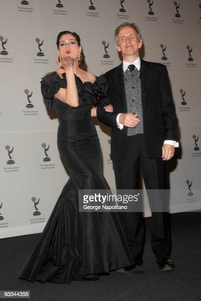 Spanish actress Mar Saura and US actor Robert Joy attend the 37th International Emmy Awards gala>> at the New York Hilton and Towers on November 23...