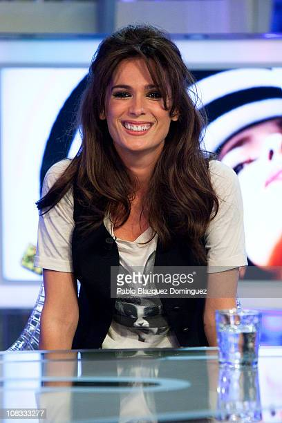 Spanish actress Mar Saura attends 'El Hormiguero' Tv Show at Vertice Studios on January 25 2011 in Madrid Spain