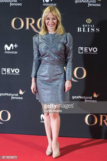 Spanish actress Maria Adanez attends 'Oro' premiere at the Callao cinema on November 8 2017 in Madrid Spain