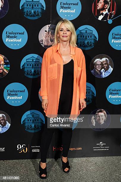 Spanish actress Maria Adanez attends the Elton John concert at the Royal Theater on July 20 2015 in Madrid Spain