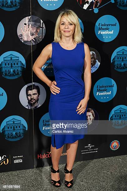 Spanish actress Maria Adanez attends the Miguel Poveda concert at the Royal Theater on July 23 2015 in Madrid Spain