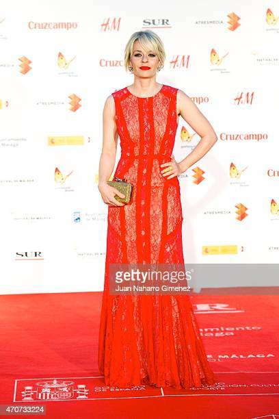 Spanish actress Maria Adanez attends the 'Sexo Facil Peliculas Tristes' premiere at the Cervantes Theater during the 18th Malaga Film Festival on...