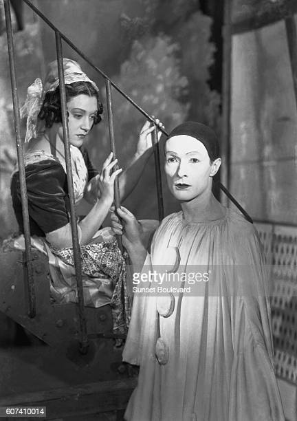 Spanish actress Maria Casares and French actor JeanLouis Barrault on the set of Les Enfants du Paradis written by Jacques Prévert and directed by...