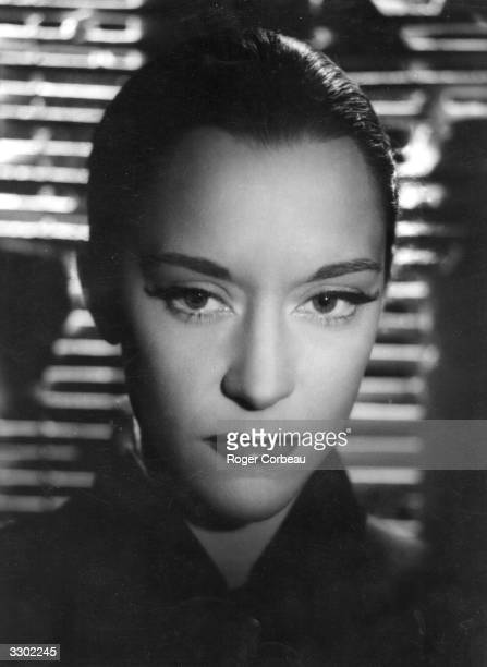 Spanish actress Maria Casares stars as the Princess of Death in the surreal romance 'Orphee' The film was directed by Jean Cocteau for Films du...