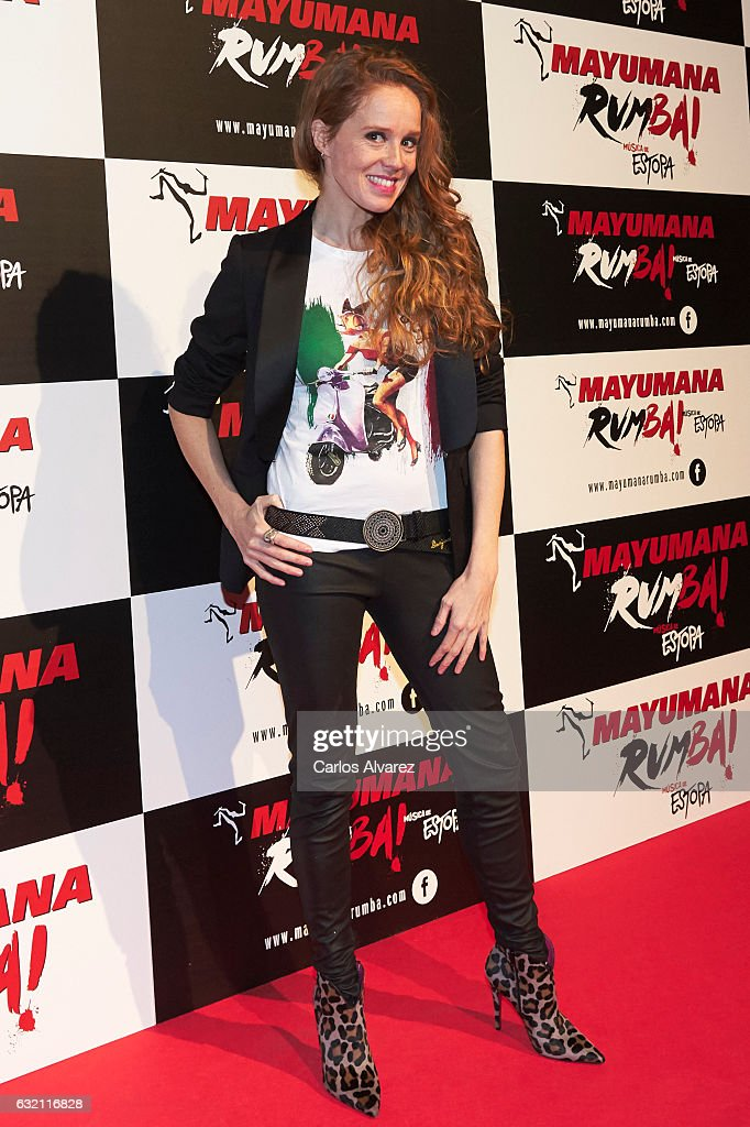 Spanish actress Maria Castro attends 'Mayumana Rumba' premiere at the Rialto Theater on January 19, 2017 in Madrid, Spain.