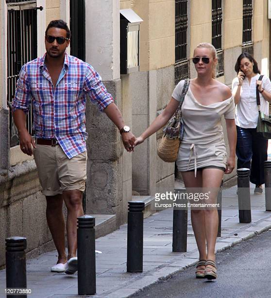 Spanish actress Maria Esteve and her husband are seen before their wedding on August 10 2011 in Madrid Spain