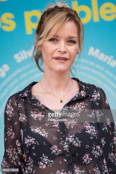 Spanish actress Maria Esteve attends the 'Hacerse Mayor Y Otros Problemas' photocall on April 24 2018 in Madrid Spain
