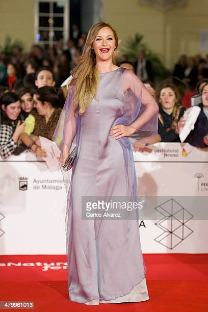 Spanish actress Maria Estevez attends the 17th Malaga Film Festival 2014 opening ceremony at tne Cervantes Theater on March 21 2014 in Malaga Spain