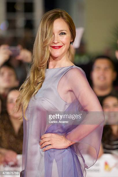Spanish actress Maria Estevez attends the 17th Malaga Film Festival 2014 opening ceremony at the Cervantes Theater on March 21 2014 in Malaga Spain
