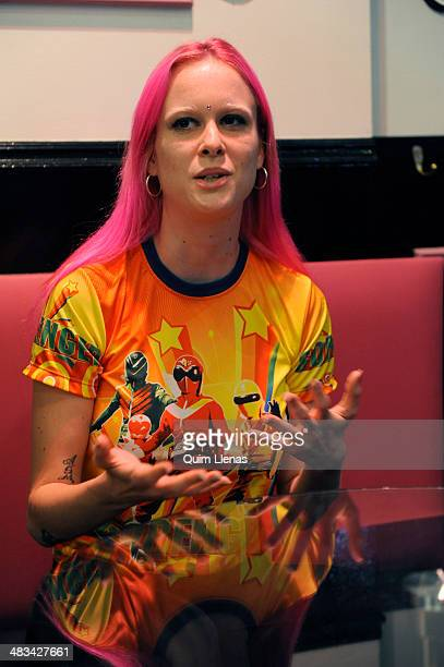 """Spanish actress Maria Forque attends the press conference for """"The Leftlovers"""" at A Quien le Importa bar on April 8, 2014 in Madrid, Spain."""