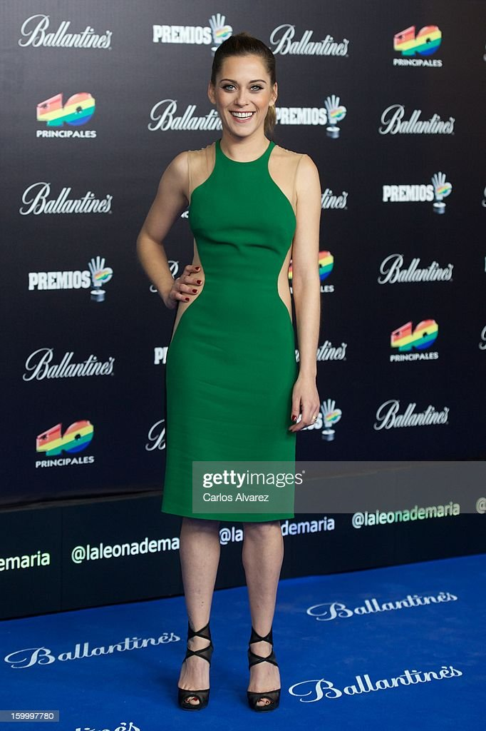 Spanish actress Maria Leon attends '40 Principales Awards' 2012 photocall at Palacio de los Deportes on January 24, 2013 in Madrid, Spain.