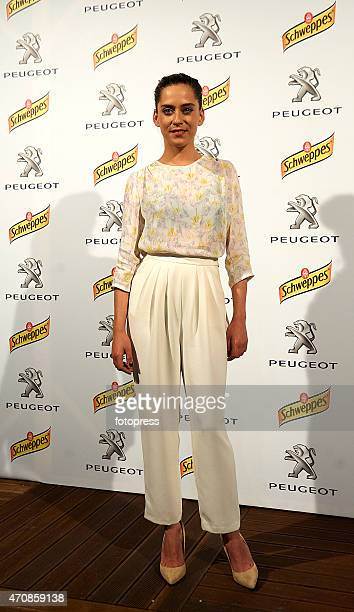 Spanish actress Maria Leon attends day four of the Barcelona Open Banc Sabadell at the Real Club de Tenis Barcelona on April 23 2015 in Barcelona...