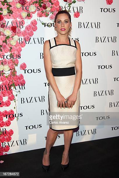 """Spanish actress Maria Leon attends the presentation of the new fragance """"Rosa"""" at the Ritz Hotel on April 23, 2013 in Madrid, Spain."""