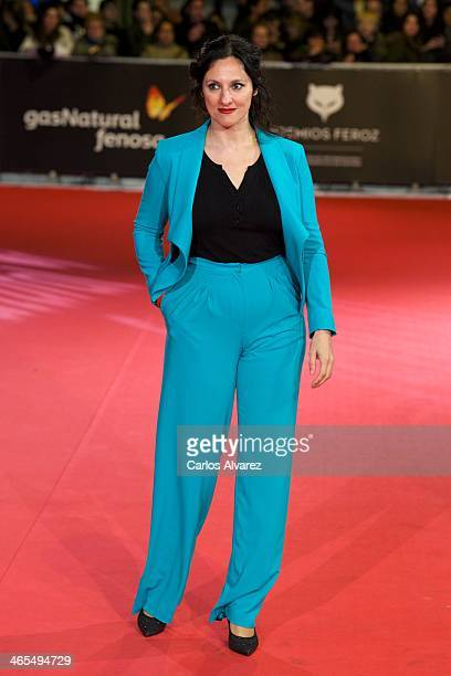 Spanish actress Maria Morales attends the 'Feroz' cinema awards 2014 at the Callao cinema on January 27 2014 in Madrid Spain