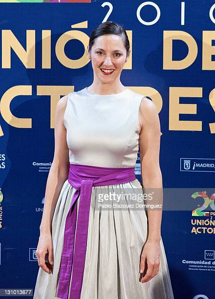 Spanish actress Maria Morales attends XX Union de Actores Awards at Circo Price Theatre on October 31 2011 in Madrid Spain
