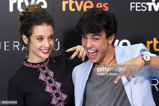 Spanish actress Maria Pedraza and Spanish actor Oscar Casas attend 'Si Fueras Tu' photocall at the Palacio de Congresos during the FesTVal 2017 on...