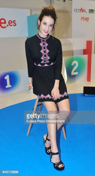 Spanish actress Maria Pedraza attends 'Si Fueras Tu' photocall at the Palacio de Congresos during the FesTVal 2017 on September 6 2017 in...